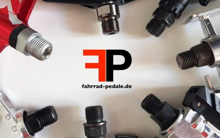 Fahrrad Pedale Gewinde schwarz silber
