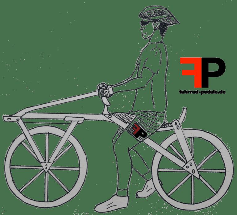 Erstes Fahrrad der Welt Laufrad Draisine Laufmaschine