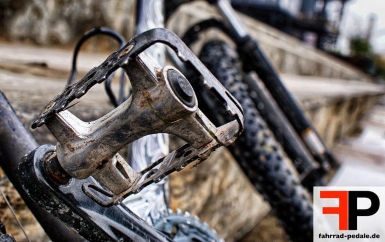 Fahrrad Pedale warten reinigen Schmutz