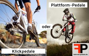 klickpedale oder plattform pedale effizienter