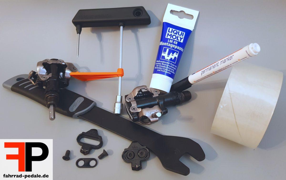 spd pedale einstellen werkzeug