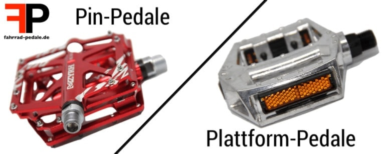 plattform-pedale pin-pedale unterschied