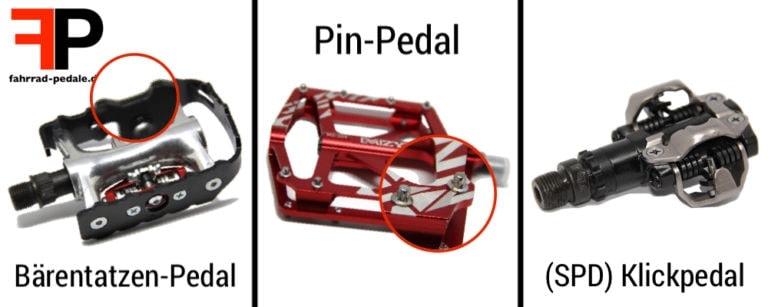 unterschied bärentatzen pin pedal klickpedal
