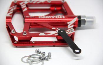 Issyzone Fahrrad-Pedal rot mit Pins