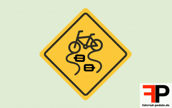fahrrad pedale rutschfest warnschild